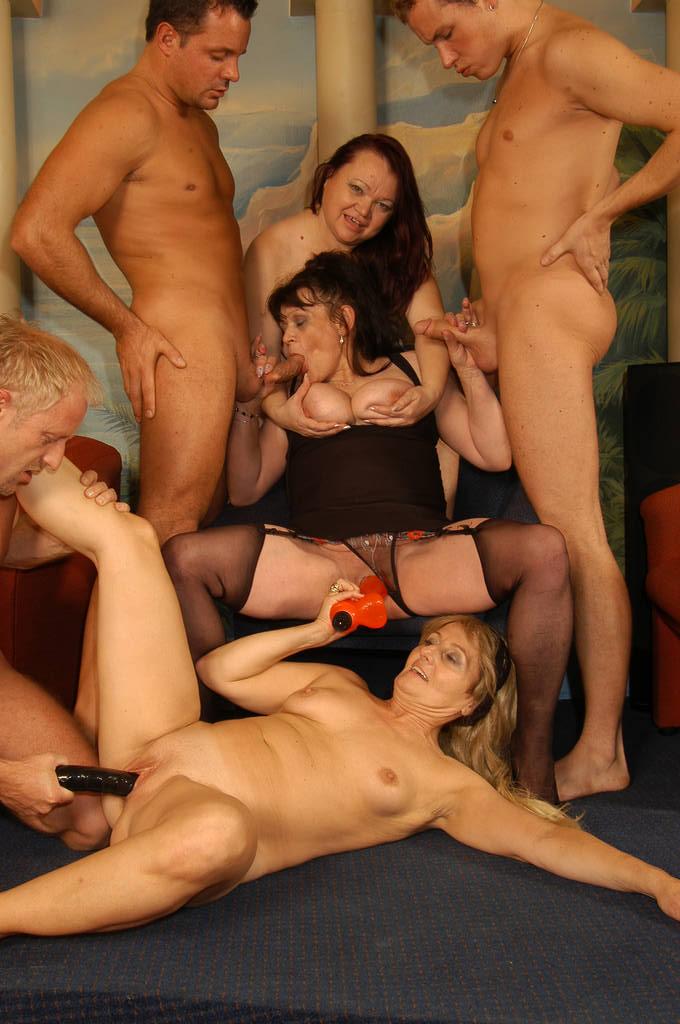 Mature women orgy